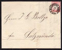 GERMANY EMPIRE 1872 NICE LETTER BRUSTSCHILDE 1GR MiNr. 4, MAGDEBURG TO SALZMÜNDE, SIEGELMARKE - Storia Postale