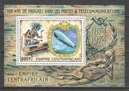 Central African Republic 1978 Mi Block 23A ZEPPELIN - UPU - Zeppelin