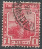 Trinidad & Tobago. 1913-23 Britannia. 1d Used Mult Crown CA W/M SG 150 - Trinidad & Tobago (...-1961)