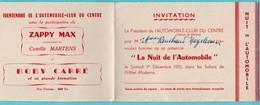 Vieux Papiers > Non Classés ZAPPY MAX Invitation Moulins Nuit De L Automobile Le Trentenaire - Vieux Papiers