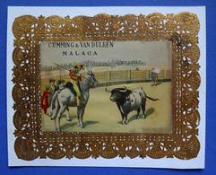 CHROMO DORE  13 / 17  Cm ESPAGNE  MALAGA   CUMMING ET VAN DULKEN   CORRIDA - Trade Cards