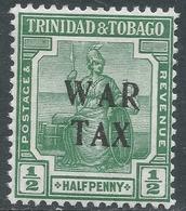 Trinidad & Tobago. 1917 War Tax. ½d MH SG 177 - Trinidad & Tobago (...-1961)