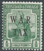 Trinidad & Tobago. 1917 War Tax. ½d MH SG 179a - Trinidad & Tobago (...-1961)