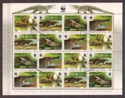 Cuba 2003 Kleinbogen Mi 4553-4556 WWF - CROCODILES - W.W.F.
