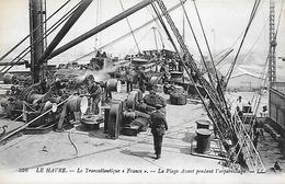 """76)  LE HAVRE  - Le  Transatlantique  """"  France  """" - La Plage Avant Pendant L' Appareillage - Hafen"""
