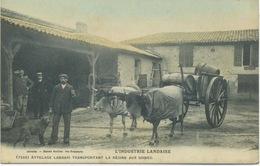 33 - Industrie Landaise : Attelage Transportant La Résine Aux Usines . - Unclassified