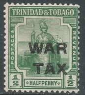 Trinidad & Tobago. 1917 War Tax. ½d MH SG 181a - Trinidad & Tobago (...-1961)