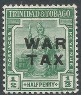 Trinidad & Tobago. 1917 War Tax. ½d MH SG 183 - Trinidad & Tobago (...-1961)