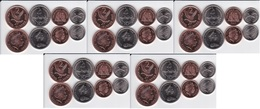 Falkland Islands - 5 Pcs X Set 4 Coins 1 2 5 10 Pence 1998 - 2011 UNC Lemberg-Zp - Falkland