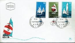 Israel 1970 - Segelweltmeisterschaften Der Bootsklasse 420 Vor Tel Aviv - MiNr 476-478 FDC - Segeln