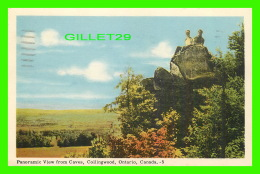 COLLINGWOOD, ONTARIO - PANORAMIC VIEW FROM CAVES - ANIMATED WITH PEOPLES - TRAVEL IN 1956 - - Ontario