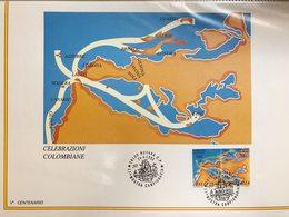 5° Centenario Della Scoperta Dell'America 1492-1992 Celebrazioni Colombiane Italia Usa Spagna Portogallo 41 Es. - Emissioni Congiunte