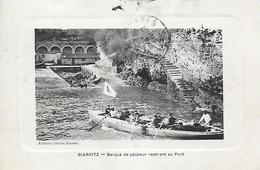 64)  BIARRITZ  - Barque De Pêcheur Rentrant Au Port - Hendaye