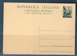 """Italia 1951 Cartolina Postale """"Quadriga"""" Nuova (Unita) C145 - 6. 1946-.. Republic"""