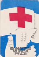 CALENDARS - ROMANIA 1983  Red Cross - Croix Rouge -Rotes Kreuz  - Dove Of Peace (7 X 10 Cm) -2 Scans - Calendarios