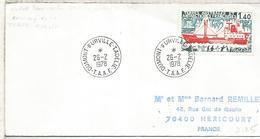 TAAF ANTARTIDA ANTARCTIC 1978 DUMONT D'URVILLE THALA DAN BARCO POLAR - Estaciones Científicas