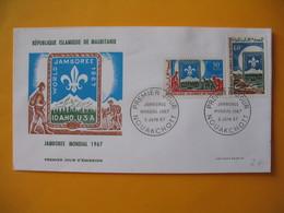 FDC  Mauritanie  1967 Jamborée Mondial - Mauritania (1960-...)