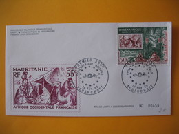 FDC  Mauritanie  1969    Philexafrique  Abidjan  N° 00456 - Mauritania (1960-...)