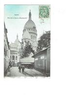 Cpa - 75 - PARIS - MONTMARTRE - Sacré Coeur -  RUE DE LA BARRE - Travaux échafaudage - 1907 - Sacré Coeur