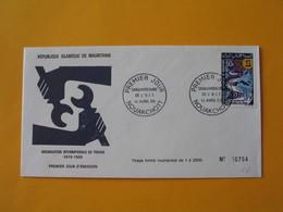 FDC  Mauritanie  1969   Cinquantenaire De L' O.I.T.   N° 754 - Mauritania (1960-...)