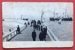 OSTENDE  CON PIROSCAFO E BARCHE A VELA  DEL 1898 - Belgique
