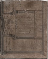 Calendrier Bi-face  Ancien Monté Sur Carton/  Compagnie D'Assurances/ L'UNION/  1830    CAL399 - Calendars