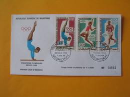 FDC  Mauritanie  1969   Jeux Olympiques Mexico - Ete 1968: Mexico
