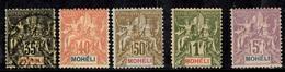 Mohéli YT N° 9 Obl, N° 10 *, N° 12 *, N° 14 * Et N° 16 *. B/TB. A Saisir! - Moheli (1906-1912)