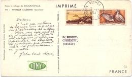 Carte Pub Plasmarine Biomarine Nouvelle Caledonie Cocotiers Dans Le Sillage De Bougainville - Briefe U. Dokumente