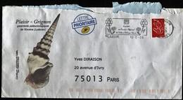 France 1 Enveloppe Oblitérée Illustrée 2008 - Timbre 3714 - Flamme Plaisir - Illustration Plaisir Grignon Paléontologie - 1961-....