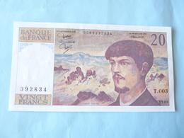A  Vendre Billet De 20 Francs Debussy Neuf N° 392834 T.003 De 1980 ( Voir Détails Svp) - 20 F 1980-1997 ''Debussy''
