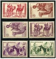 Mauritanie (1943) N 125 à 130 * (charniere) - Mauritanie (1906-1944)