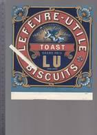 Biscuits Lefevre Utile Nantes - Etiquette Lithographiée Pour Boite - Toast, La Renommée - Autres
