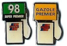TOTAL - T14 - POMPES SUPER 98 Et GAZOLE PREMIER - Verso : SM - Fuels