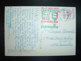 CP TP BELGIQUE 6F + Vignette 15-21 JUI 1978 LECTOURE KONGRESO De ESPERANTO OBL.MEC.2-5 78 BRUXELLES - Esperanto