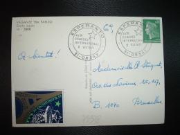 CP TP FRANCE TP M. DE CHEFFER 0,30 OBL.2 VIII 1971 81 ORSAI ESPERANTO 44eme CONGRES INTERNATIONAL + VIGNETTE ESPERANTO - Esperanto