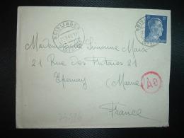 LETTRE Pour La FRANCE TP 25 OBL.21-9 43 GEISLINGEN + CENSURE - Marcophilie (Lettres)