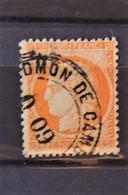 France N°38 Oblitéré Cachet Espagnole Admon De Cambio - 1871-1875 Cérès