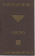 Pharmacie/Petit Calendrier De Poche/Laboratoire Des Spécialités MUTHELET/Paris /   1930              CAL400 - Klein Formaat: 1921-40