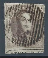 """10c Brun  Obl Perception Bien Margé Bas De Feuille Avec Fragment D'inscription """"ATELIER DU ..."""". TB - 1858-1862 Médaillons (9/12)"""