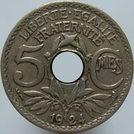 France 5 Centimes 1924 VF / XF - Poissy - C. 5 Centimes