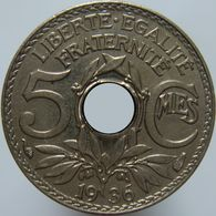 France 5 Centimes 1936 UNC  KM # 875 5 CENTIMES Date Issued F VF XF Unc BU 1936 64.340.999 0.15 0.25 0.75 2.25 5.00 - France