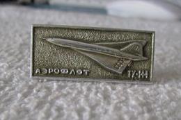Pins Аэрофло Туполев Ту-144 Aeroflot Tupolev Tu-144 Concordski (o Konkordski) Distintivo Somiglianza Al Concorde - Airplanes