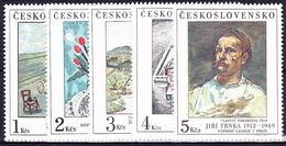 ** Tchécoslovaquie 1987 Mi 2933-7 (Yv 2744-8), (MNH) - Tchécoslovaquie