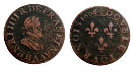 HENRI IV Double Tournois 1606 A (Paris) CGKL 222 A VOIR!!! - 987-1789 Royal