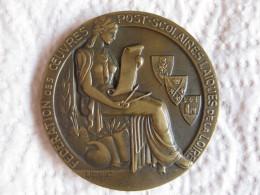 Médaille Fédération Des Oeuvres Post Scolaires Laiques De La Loire Par Bouillot - France