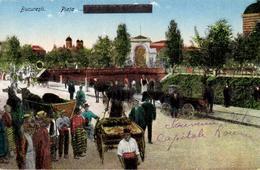 CPA Roumani - Bucarest - Bucuresti - Piata Marktplatz - 28.02.1919 - Romania