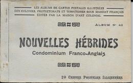 Carnet Complet 20 Cpa Nouvelles Hébrides Condominium Franco-anglais Neuf Album N°42 Maison Art Coloniale Cannibale... - Vanuatu