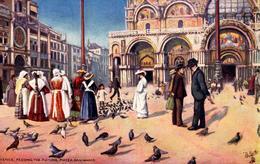 "CPA Italie - Venise - Venice - Feeding The Pigeons, Piazza San Marco - Raphael Tuck & Sons ""Oilette"" N° 7038 - Illustrateurs & Photographes"