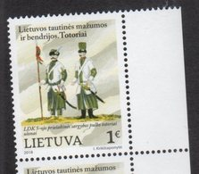 LITHUANIA, 2018, MNH, ETHNIC MINORITIES IN LITHUANIA, COSTUMES, SWORDS, MILITARY UNIFORMS, 1v - Costumes